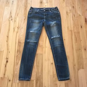 Almost Famous Destroyed Distressed Rip Knee Jeans